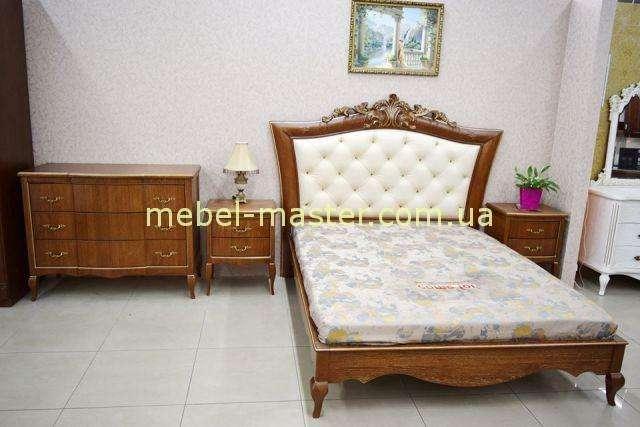 Кровать с резным мягким изголовьем Венеция, Альбертокомодита