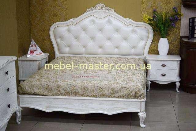 Белая кровать Марсель в стиле барокко