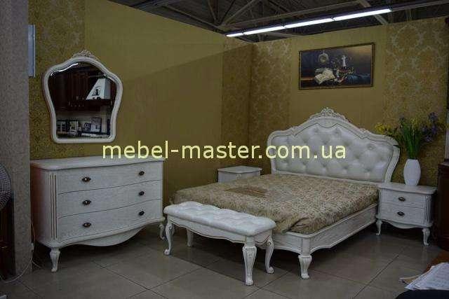 Белый комплект мебели для спальни Марсель из массива дуба, Альбертокомодита