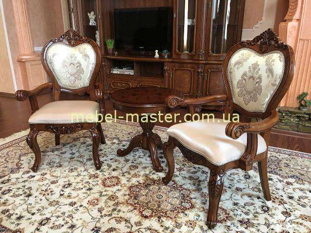 Маленький чайный столик Дамин и стулья с подлокотниками 719