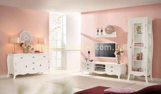 Белая ТВ тумба Кристина от румынской фабрики Мобекс