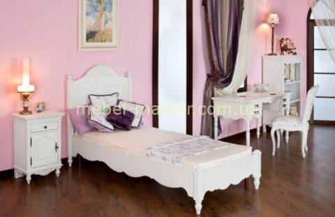 Деревянная классическая кровать Лаванда 90см. Румыния, Мобекс