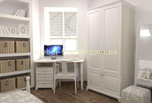Двухдверный белый шкаф Белоснежка, Снайт