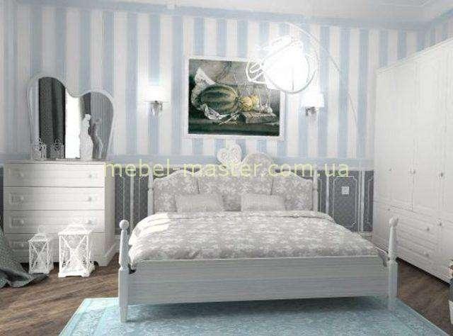 Белая двухспальная кровать Белоснежка, Снайт