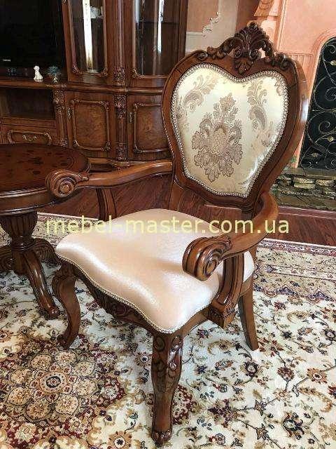 Классический ореховый стул с подлокотником 719, Даминг