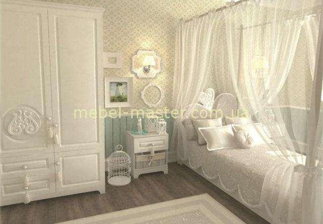 Белая мебель для спальни в детскую Белоснежка, Снайт