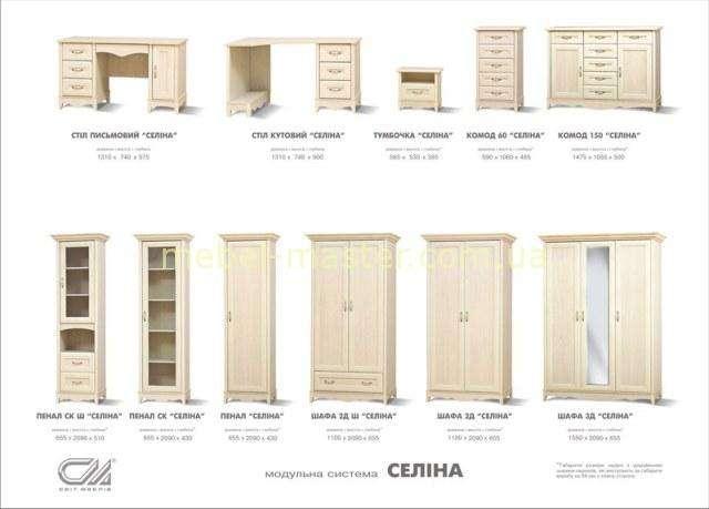 Комплектация мебели для детской Селина, Свит Меблив