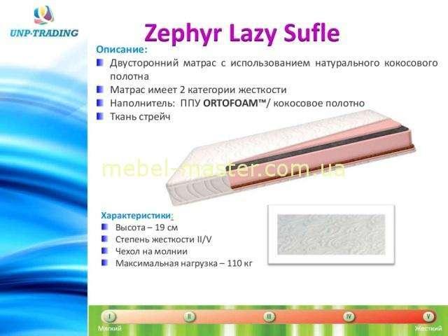 Двухсторонний ортопедический Матрас Zephyr Lazy SUFLE, Латоны