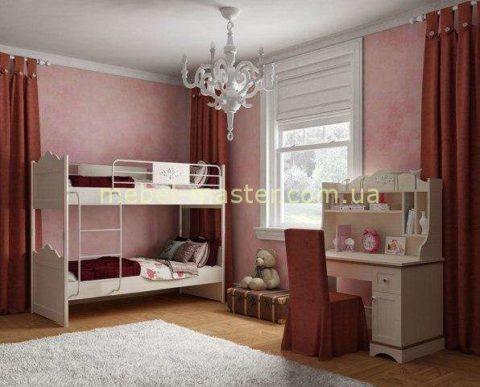 Двухярусная кровать в спальню для девочек, Miss Flower