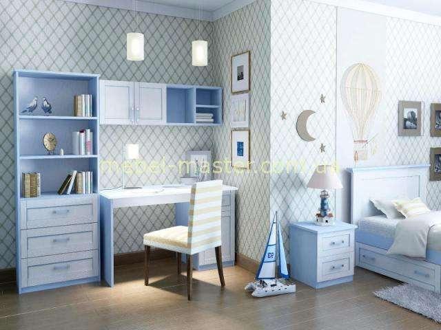 Голубой мебельный гарнитур для мальчика Вояж, Аквародос