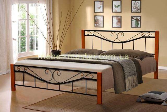 Кованая кровать с прямім изголовьем Миллениум, Микс мебель