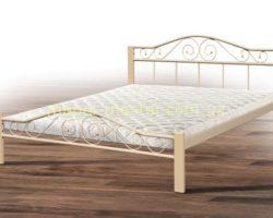 Кровать кованая в цвете беж Респект, Микс мебель