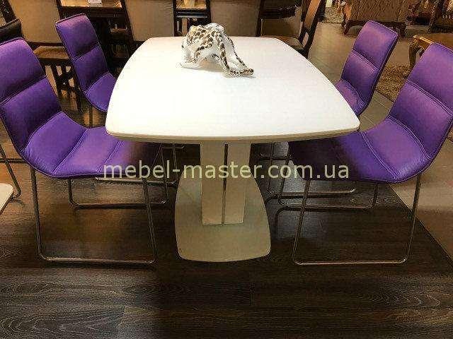 Прямоугольный белый обеденный стол Бруклин, Джосс