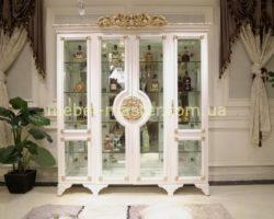 Классическая белая четырехдверная витрина с золотом Эрмитаж, Джосс