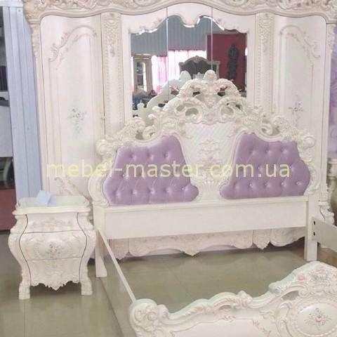 Светлая мебель для спальни Мона Лиза. Цвет слоновая кость.