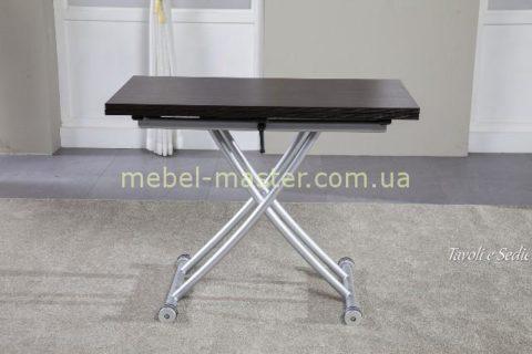 Недорогой стол трансформер с темной с металлическими ногами