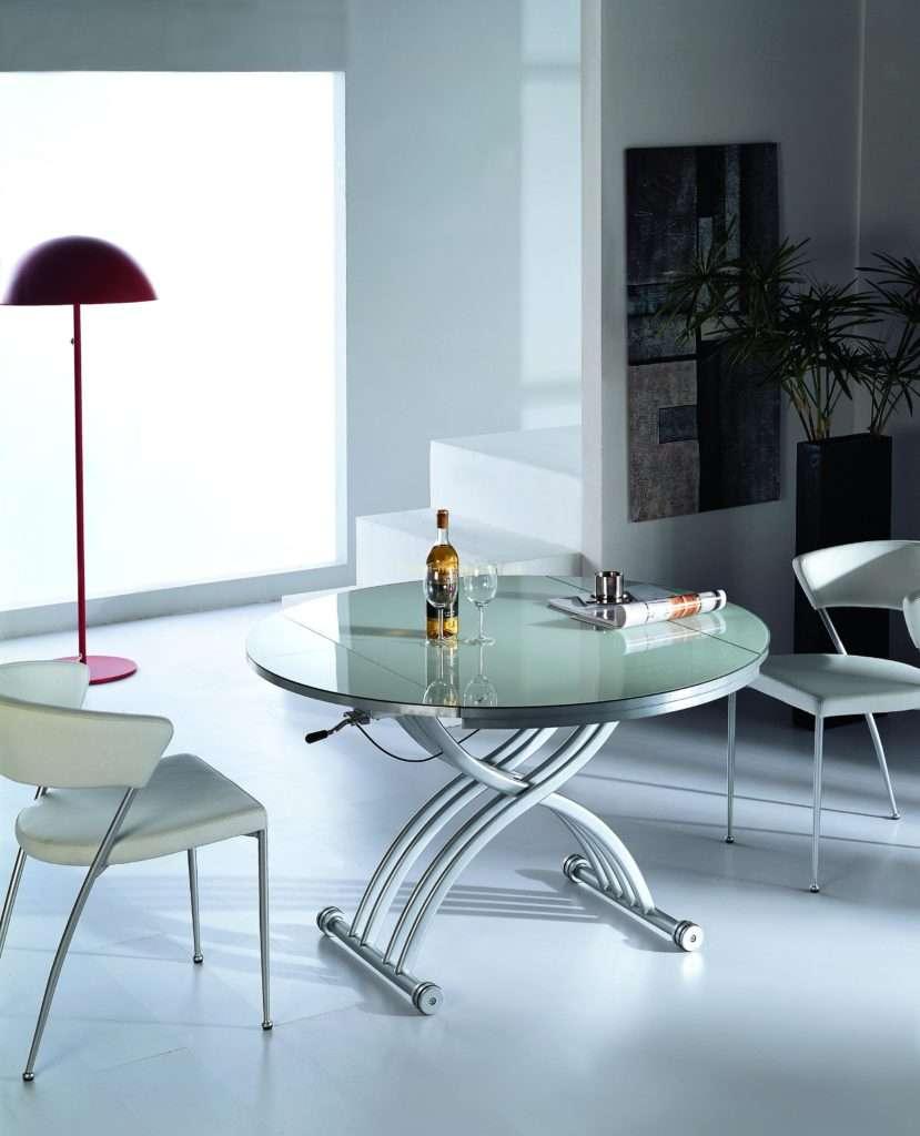 Стол обеденный с темный дымчастым стеклом B2252-6