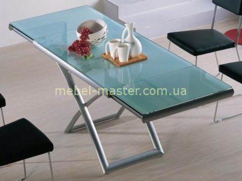 Недорогой раскладной стол со стеклянной столешницей B2293, Китай