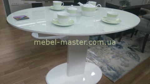 Недорогой белый обеденный круглый стол B2396, Китай