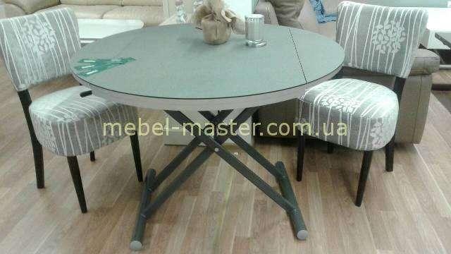 Серый небольшой обеденный стол B2433 в сером цвете с напылением.