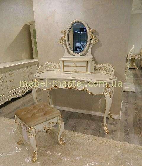Красивый фигурный туалетный столик для спальни в стиле барокко Пале Рояль