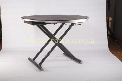 Недорогой круглый обеденный стол B2433. Цвет: графит с напылением