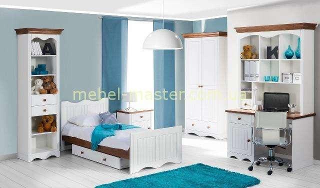 Белая мебель из натурального дерева Принцесса в детскую комнату, Шинака