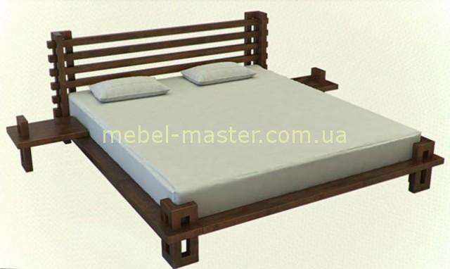 Деревянная кровать Сакура в японском стиле. Фабрика Совиньйон