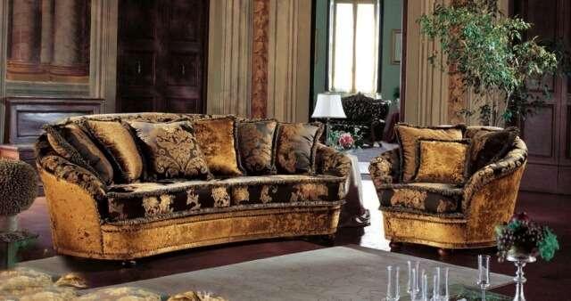 Классический диван и 2 кресла мягкая мебель