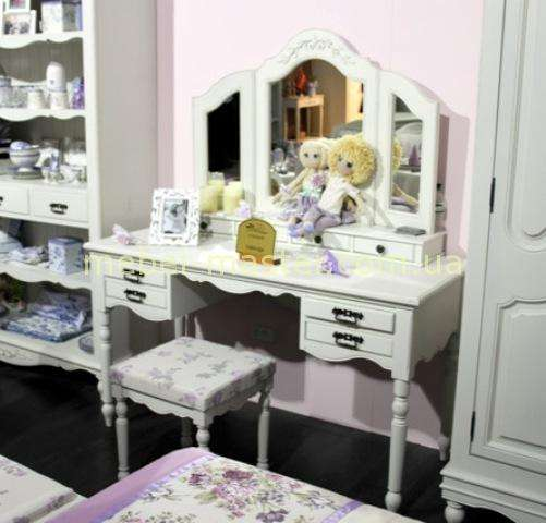 Дамский столик с эффектом старины в стиле Прованс. Спальня Лаванда Мобекс