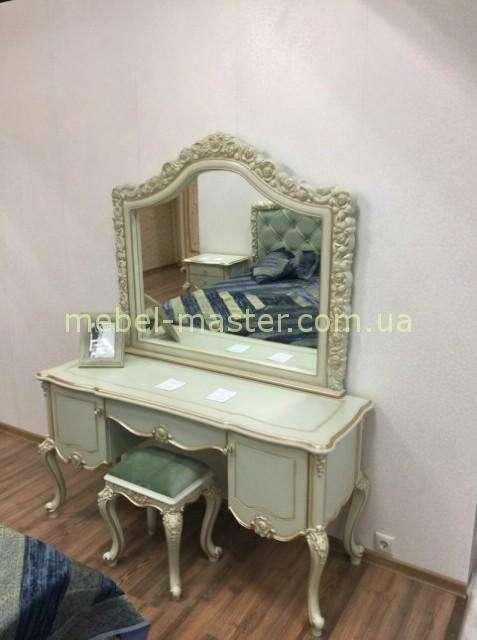 Резной столик туалетный в стиле Прованс в спальню Люсиль