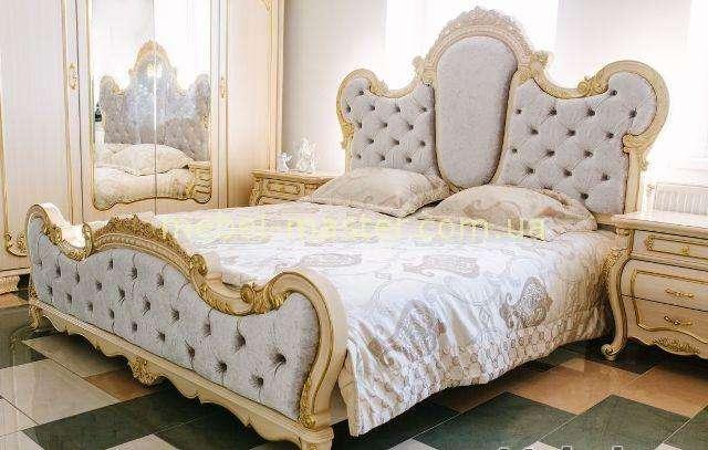 Кровать с большим мягким изголовьем Милана, Монако София мебель.