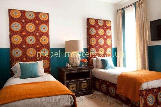 Мягкое изголовье для кровати с геометрическим принтом в спальню в восточном стиле