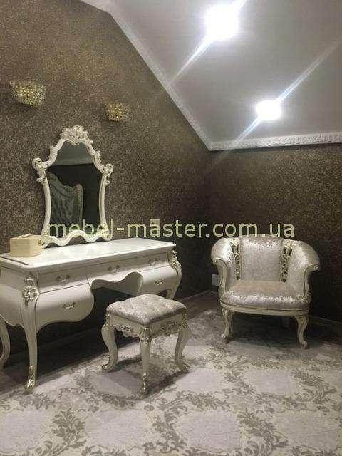 Большой туалетный стол с ящиками с навесным зеркалом Шампань, Энигма