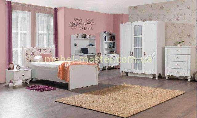 Белая кровать с цветочным принтом Ибица, Турция