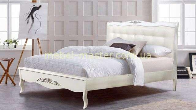 Белая кровать из массива Лаура, Евродом