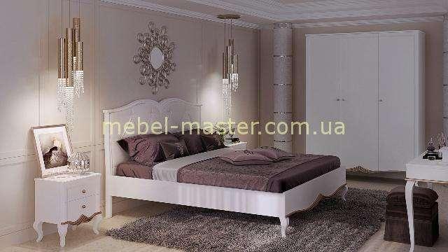 Белая деревянная спальня Букет, Бучинский