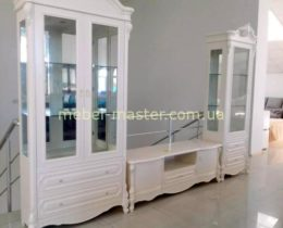 Недорогая белая стенка в гостиную 8698 Кармен, Евродом