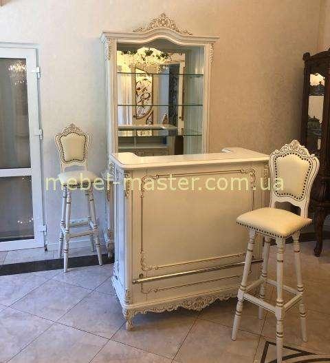 Белая классическая румынская мебель для бара Клеопатра, Симекс