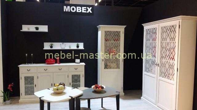 Белая модерновая румынская стенка в гостиную Кодиак, Мобекс