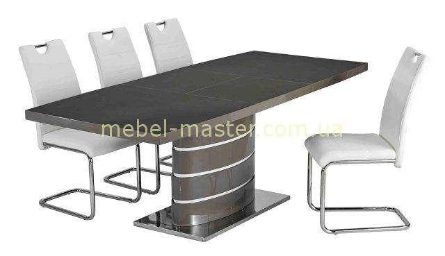 Серый глянцевый обеденный стол Detroit DT-9185