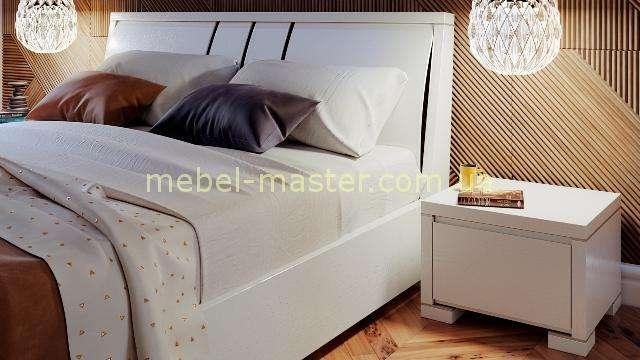 Белая мебель для спальни Амина из натурального дерева, Бучинский