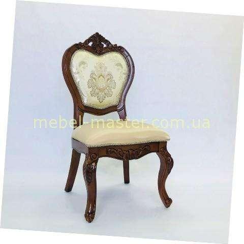 Коричневый стул обеденный 719 с короной, Даминг