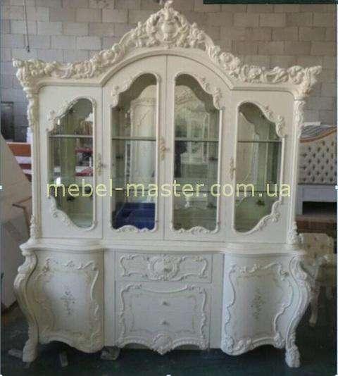 Четырехдверная витрина в стиле барокко Элиза новая 8833