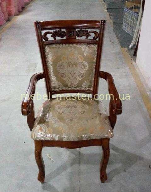 Ореховый стул 8037 с подлокотником, Даминг