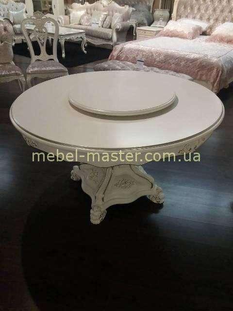 Белый стол Версаль с надстройкой в стиле барокко, Энигма