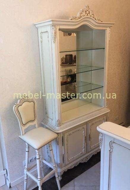 Белая румынская барная витрина Клеопатра, Симекс