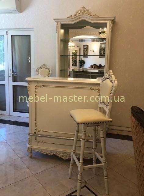 Белый деревянный барный стул Клеопатра, Симекс