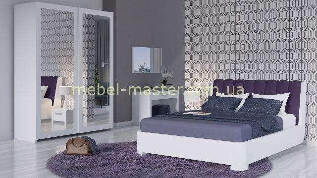 Белый мебельный гарнитур для спальни Адель, Бучинский