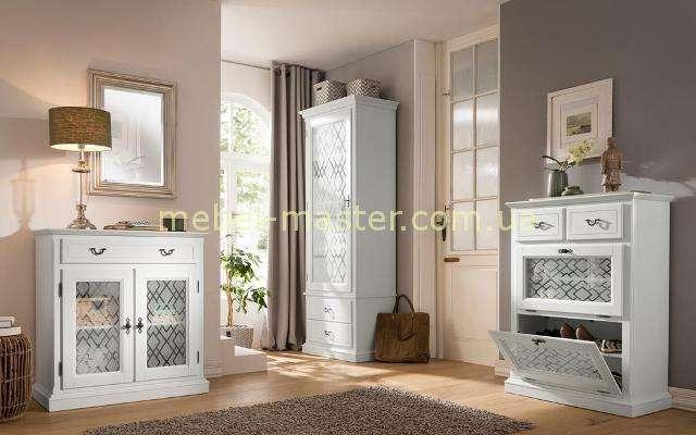 Деревянная мебель для прихожей Кодиак в белом цвете, Румыния